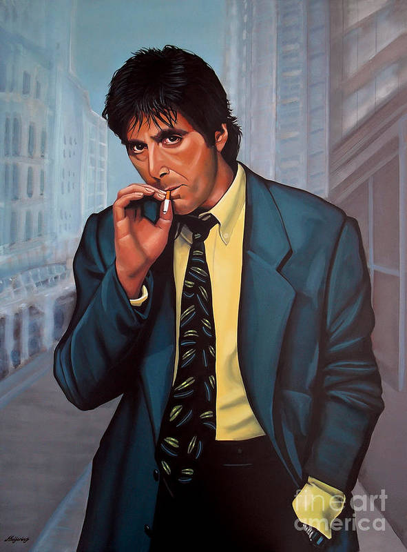 Al Pacino Poster featuring the painting Al Pacino 2 by Paul Meijering