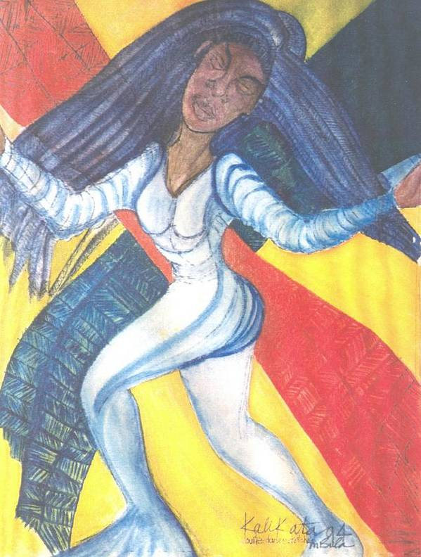 Poster featuring the painting Dancer by Kalikata MBula