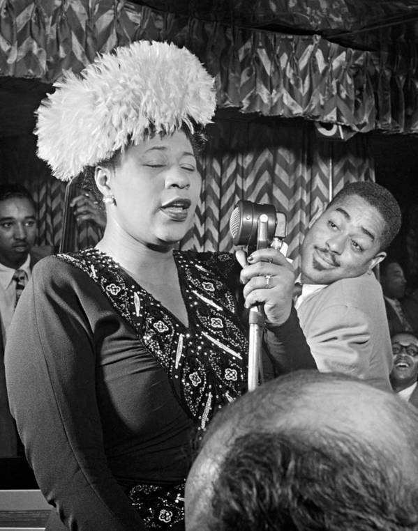 1947 Poster featuring the photograph Ella Fitzgerald (1917-1996) by Granger