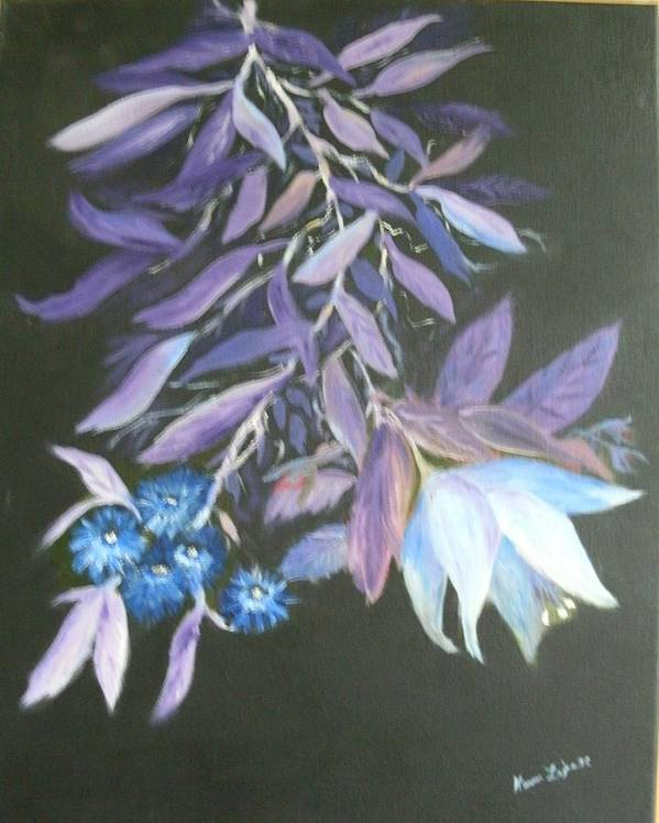 Still Life Poster featuring the painting Floral by Karen Lipek