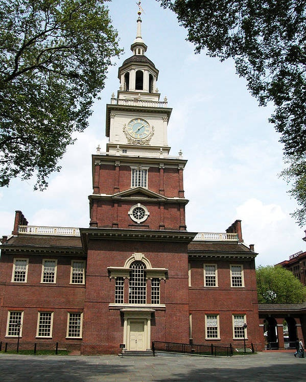 Revolution Poster featuring the photograph Independence Hall In Philadelphia by Carl Purcell