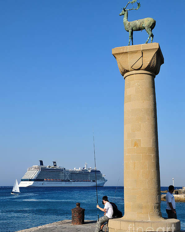 Rhodes Poster featuring the photograph Mandraki Port by George Atsametakis