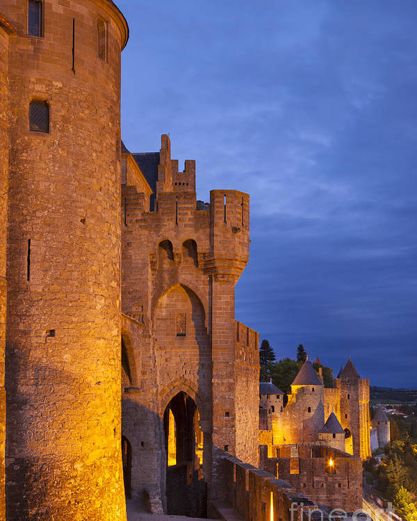 Architecture Poster featuring the photograph Medieval Carcassonne by Brian Jannsen