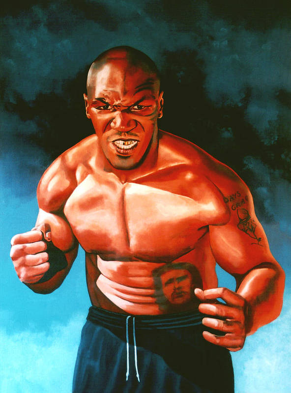Mike Tyson Poster featuring the painting Mike Tyson by Paul Meijering