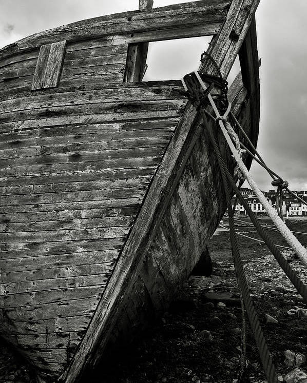 Old Poster featuring the photograph Old Abandoned Ship by RicardMN Photography