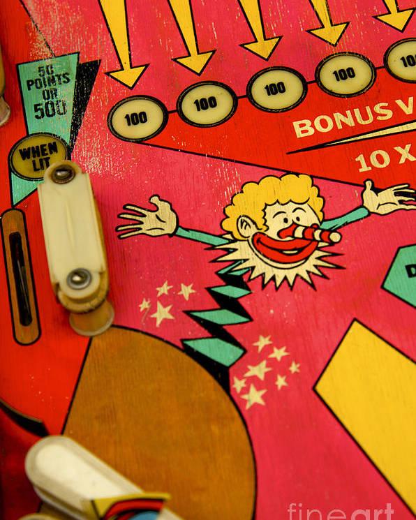 Indoors Poster featuring the photograph Pinball Machine by Bernard Jaubert