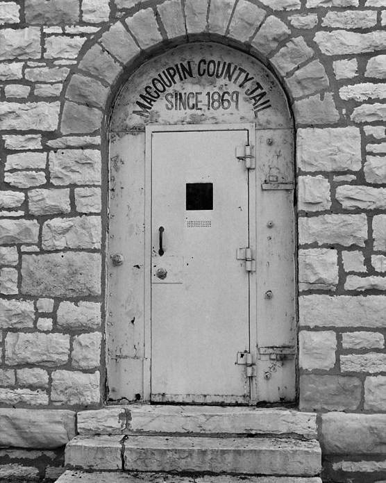 66 Poster featuring the photograph Route 66 - Macoupin County Jail by Frank Romeo