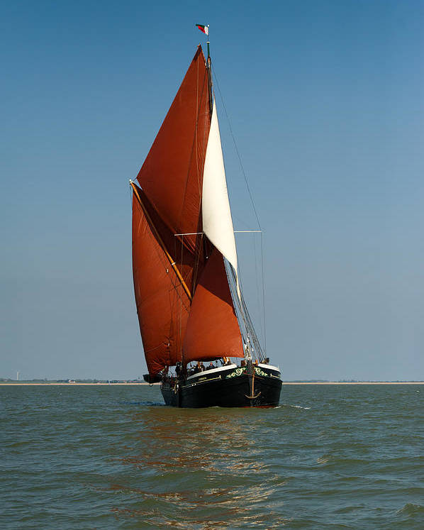 Thames Barge Poster featuring the photograph Sailing Barge by Gary Eason