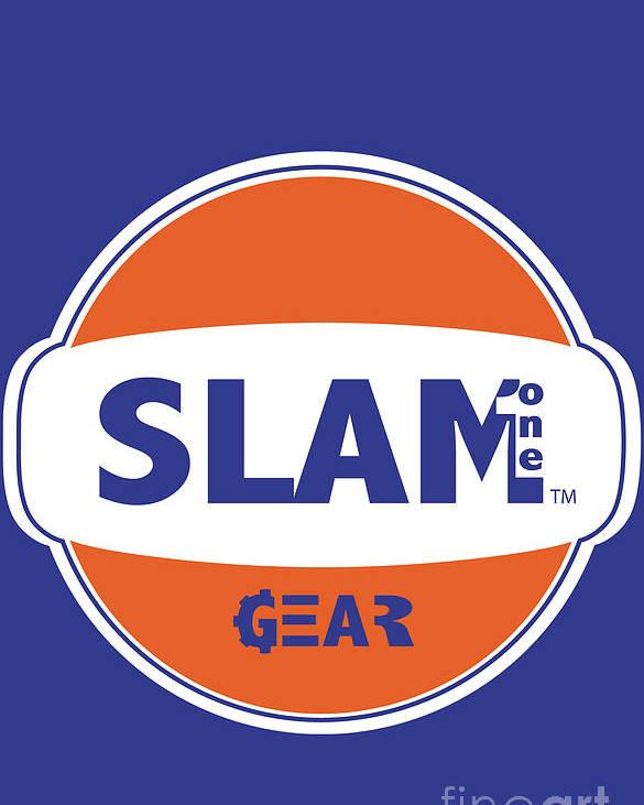 Slam One Gear Poster featuring the digital art Slam One Gear by James Eye