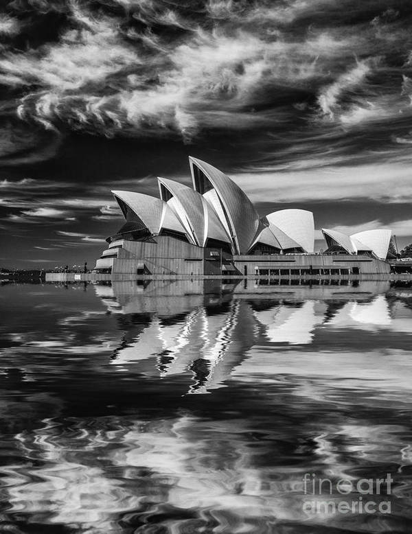 Sydney Opera House Poster featuring the photograph Sydney Opera House abstract by Sheila Smart Fine Art Photography
