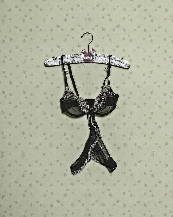 Clothes Hanger Poster featuring the photograph Underwear by Joana Kruse