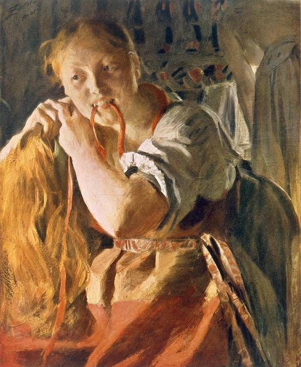 Poster featuring the painting Untitled by Anders Leonard Zorn