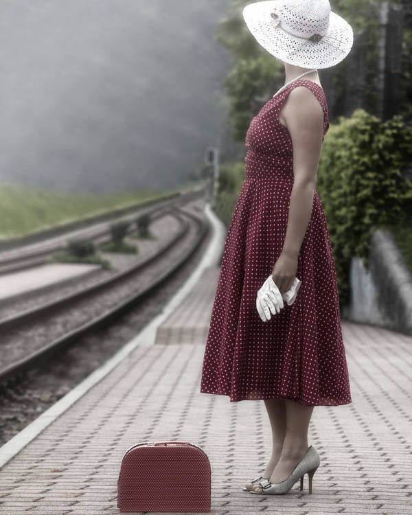 Woman Poster featuring the photograph Waiting by Joana Kruse