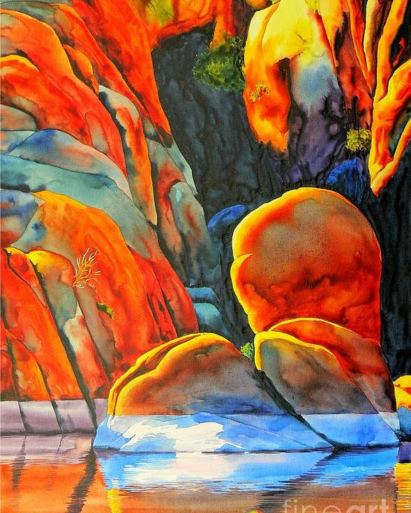 Watercolor Poster featuring the painting Watson Lake by Robert Hooper