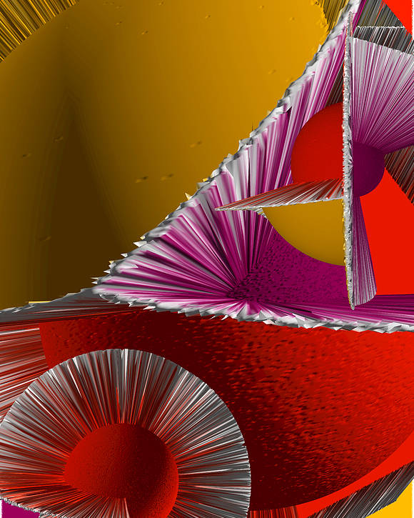 3d Poster featuring the digital art 3d Abstract 6 by Angelina Vick