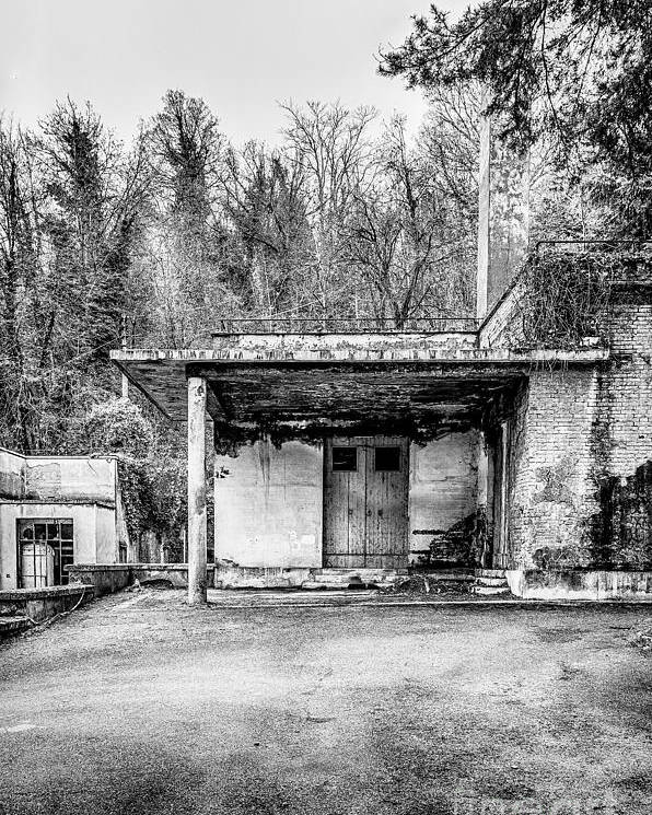 Abandoned Poster featuring the photograph Abandoned Sanatorium by Traven Milovich