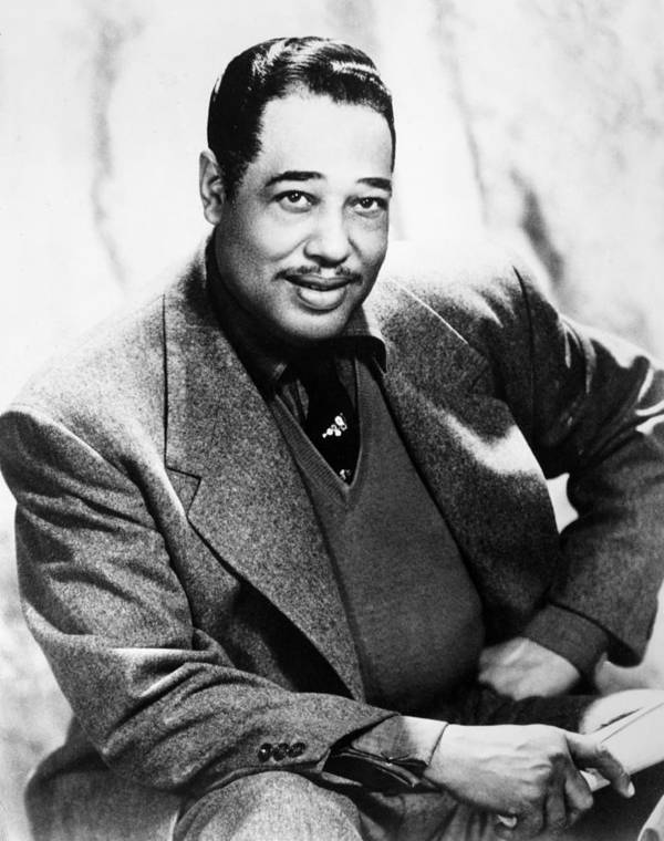 1955 Poster featuring the photograph Duke Ellington (1899-1974) by Granger