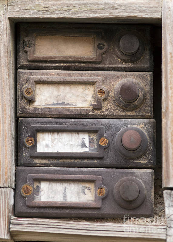 Topic Poster featuring the photograph Old Doorbells by Michal Boubin