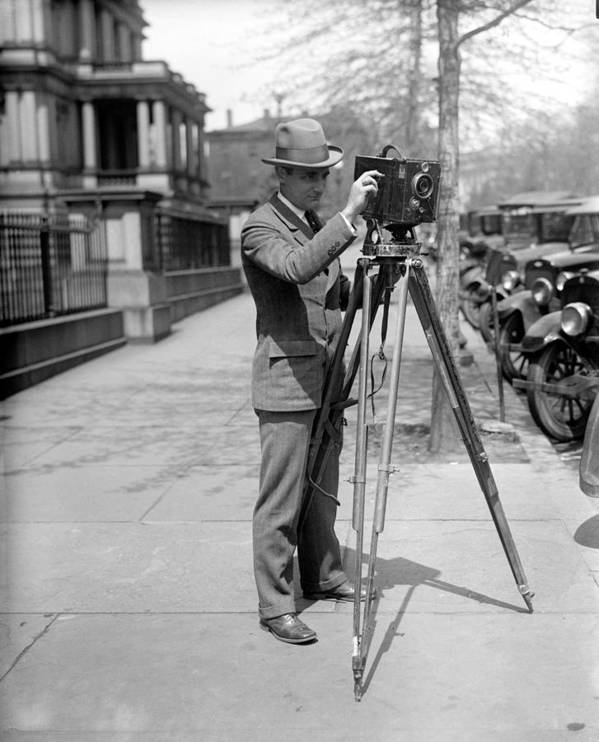 1915 Poster featuring the photograph Photographer, C1915 by Granger