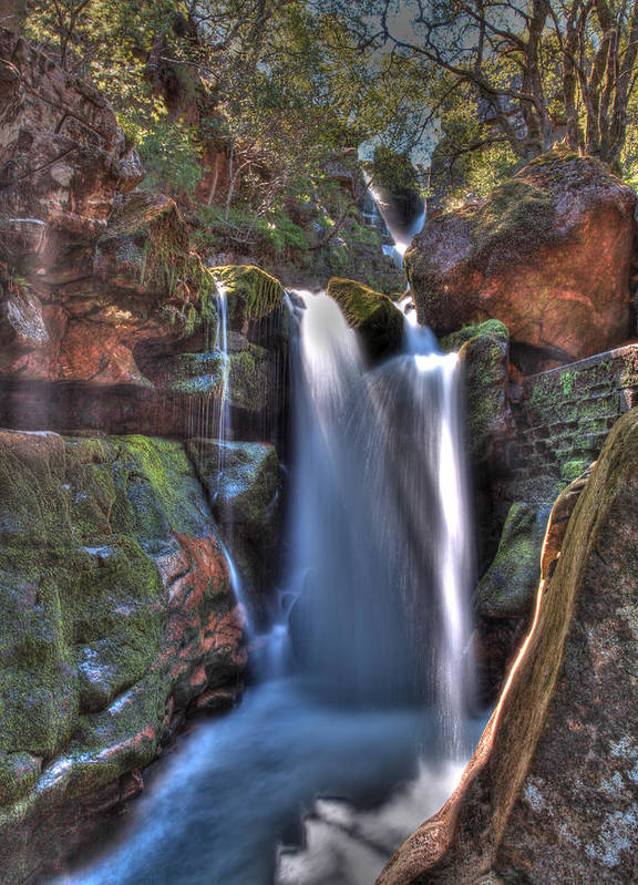 Scotland Poster featuring the photograph Scotish Waterfall Hdr by Ollie Taylor