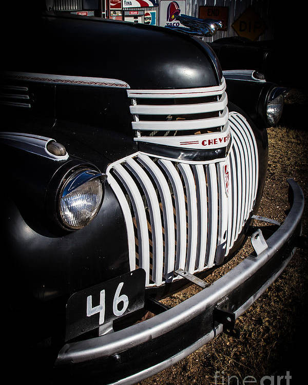 Classic Cars Poster featuring the photograph '46 Chevy by Jim McCain