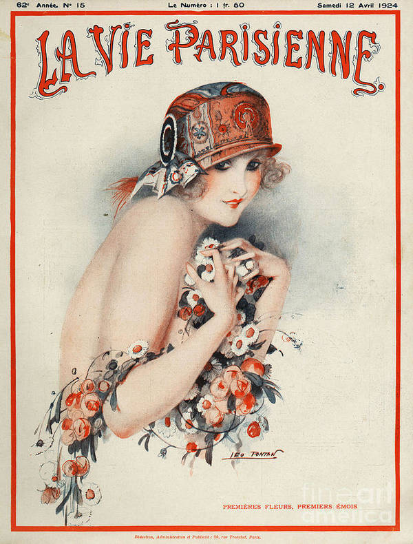 Covers Poster featuring the drawing La Vie Parisienne 1924 1920s France by The Advertising Archives
