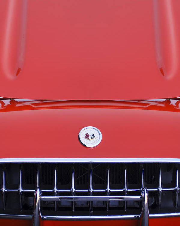 1957 Chevrolet Corvette Grille Poster featuring the photograph 1957 Chevrolet Corvette Grille by Jill Reger
