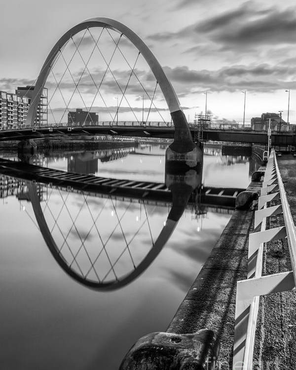 Glasgow Scene Poster featuring the photograph Clyde Arc Squinty Bridge by John Farnan