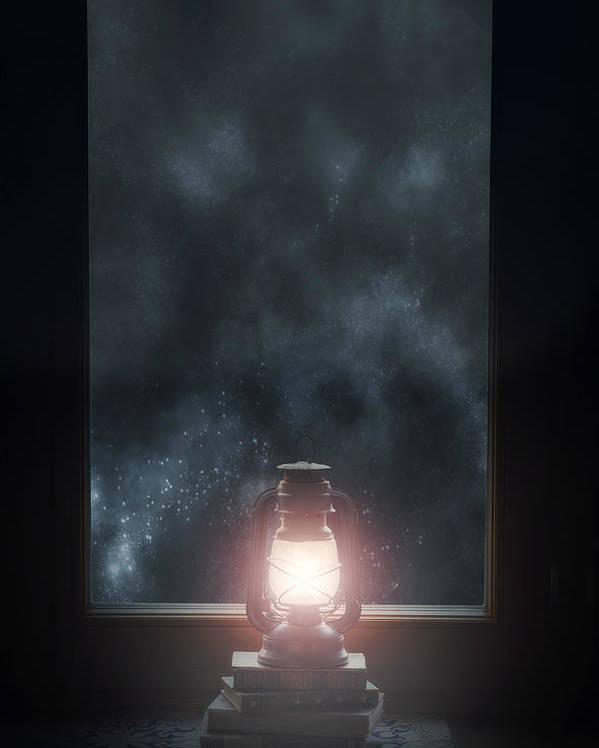 Lamp Poster featuring the photograph Lantern by Joana Kruse