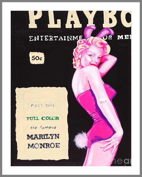 Marilyn Monroe Poster featuring the painting 50 Years Of Bunnies by Holly Picano