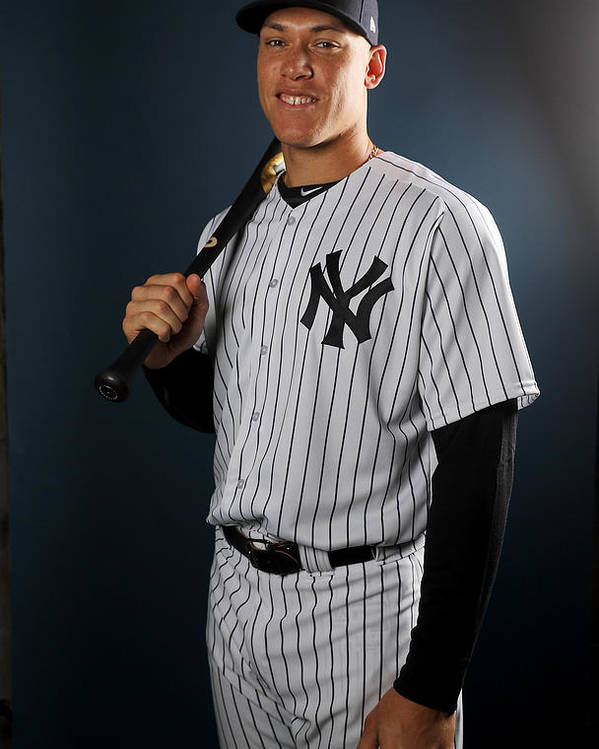 Media Day Poster featuring the photograph New York Yankees Photo Day by Elsa