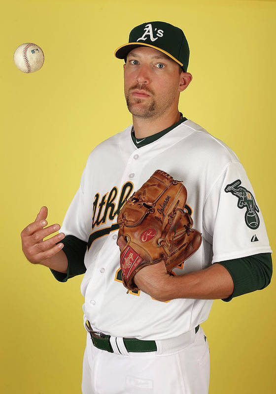 Media Day Poster featuring the photograph Oakland Athletics Photo Day by Christian Petersen