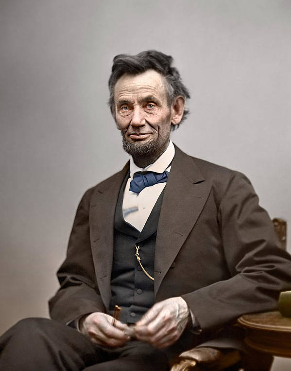 classic Poster featuring the photograph President Abraham Lincoln by Retro Images Archive