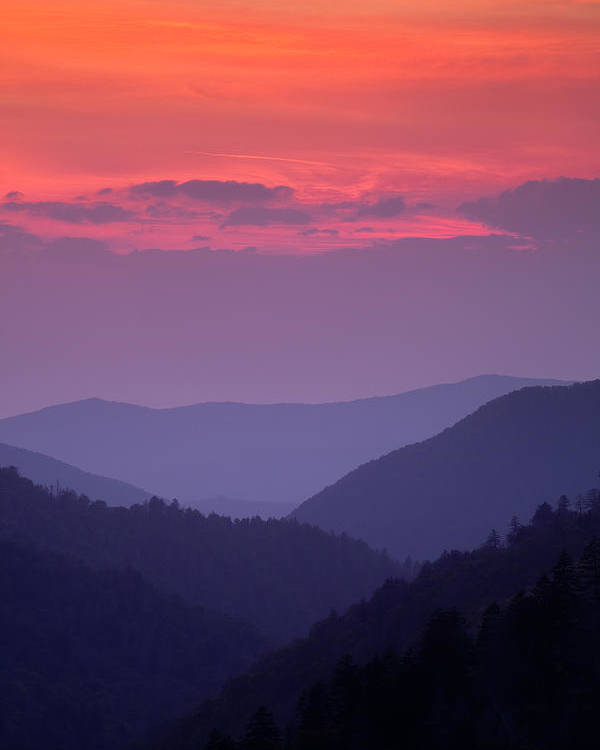 Smokies Poster featuring the photograph Smoky Mountain Sunset by Andrew Soundarajan