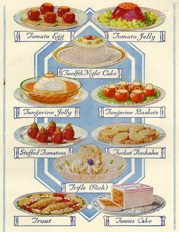1920s Uk Food Magazine Plate Poster
