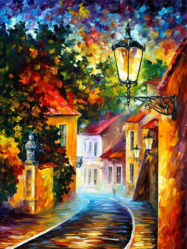 Afremov Poster featuring the painting Evening by Leonid Afremov