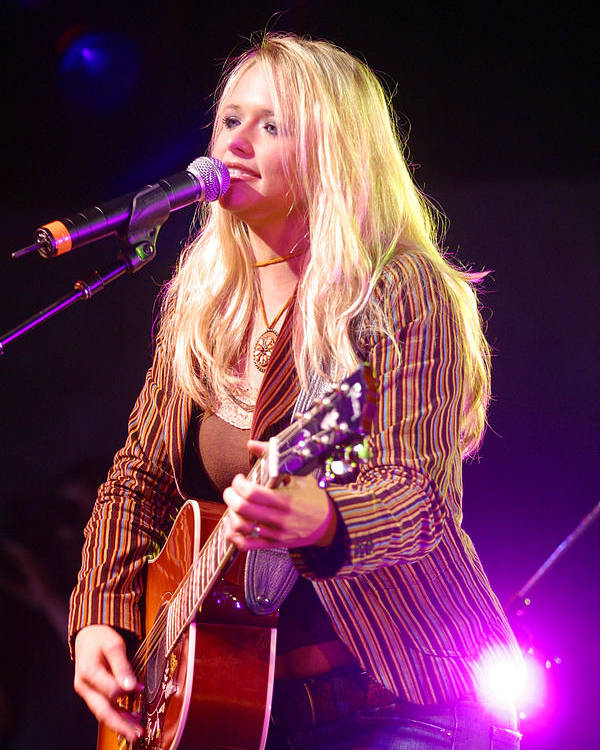 Don Olea Poster featuring the photograph Miranda Lambert by Don Olea