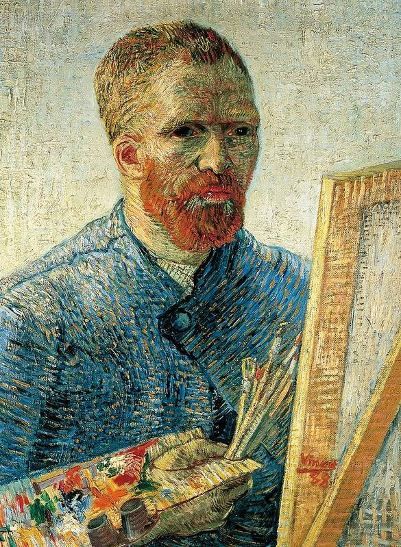 Art Poster featuring the painting Self Portrait by Vincent van Gogh