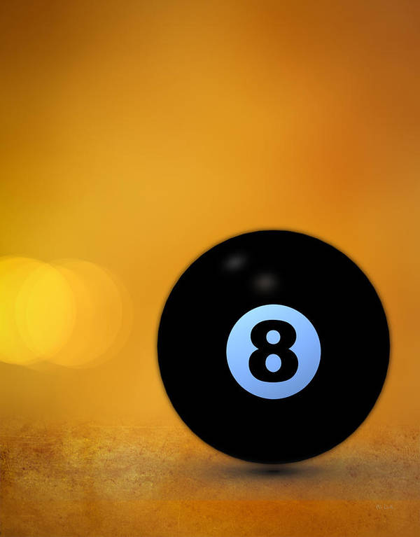 8 Ball Poster featuring the photograph 8 Ball by Bob Orsillo