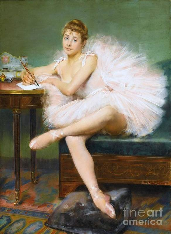 Pd Poster featuring the painting A Ballerina by Pg Reproductions