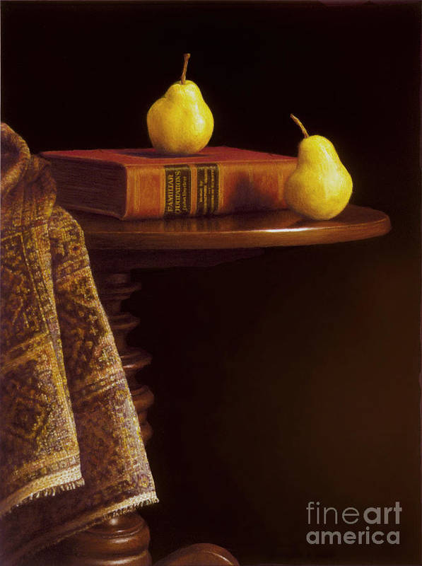 Pears Poster featuring the painting A Bartlett Of A Different Kind by Barbara Groff