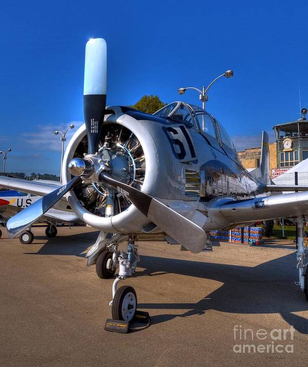 Airplanes Poster featuring the photograph A Big Engine by Mel Steinhauer