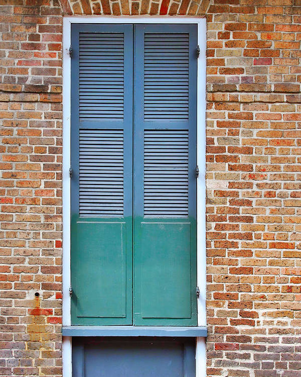 Front Poster featuring the photograph A Blue Door In New Orleans by Christine Till