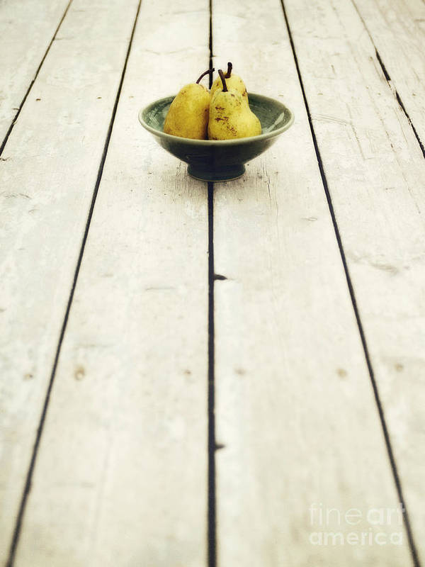 Pear Poster featuring the photograph A Bowl Filled With Pears by Priska Wettstein