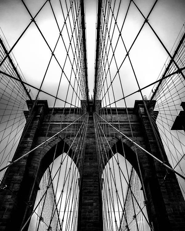 Brooklyn Bridge Arches Poster featuring the photograph A Brooklyn Perspective by Az Jackson
