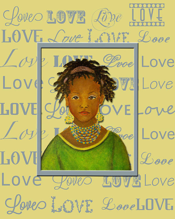 Love Poster featuring the painting A Child's Whispers Of Love by The Art With A Heart By Charlotte Phillips