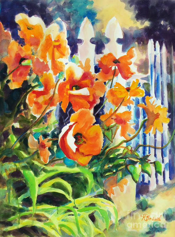 Paintings Poster featuring the painting A Choir Of Poppies by Kathy Braud