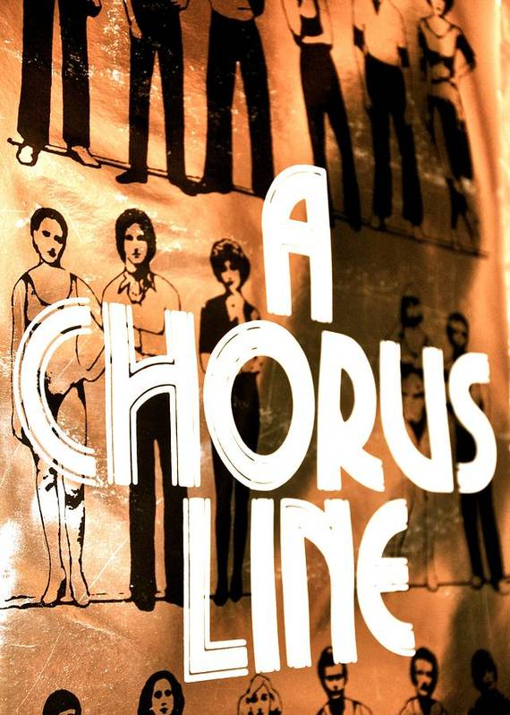 Music Poster featuring the photograph A Chorus Line Vintage by Toni Ryder