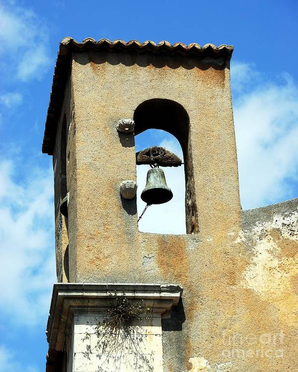 A Church Bell In The Sky Poster featuring the photograph A Church Bell In The Sky 3 by Mel Steinhauer