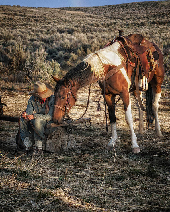 Sombrero Ranch Poster featuring the photograph A Cowgirls Best Friend by Pamela Steege